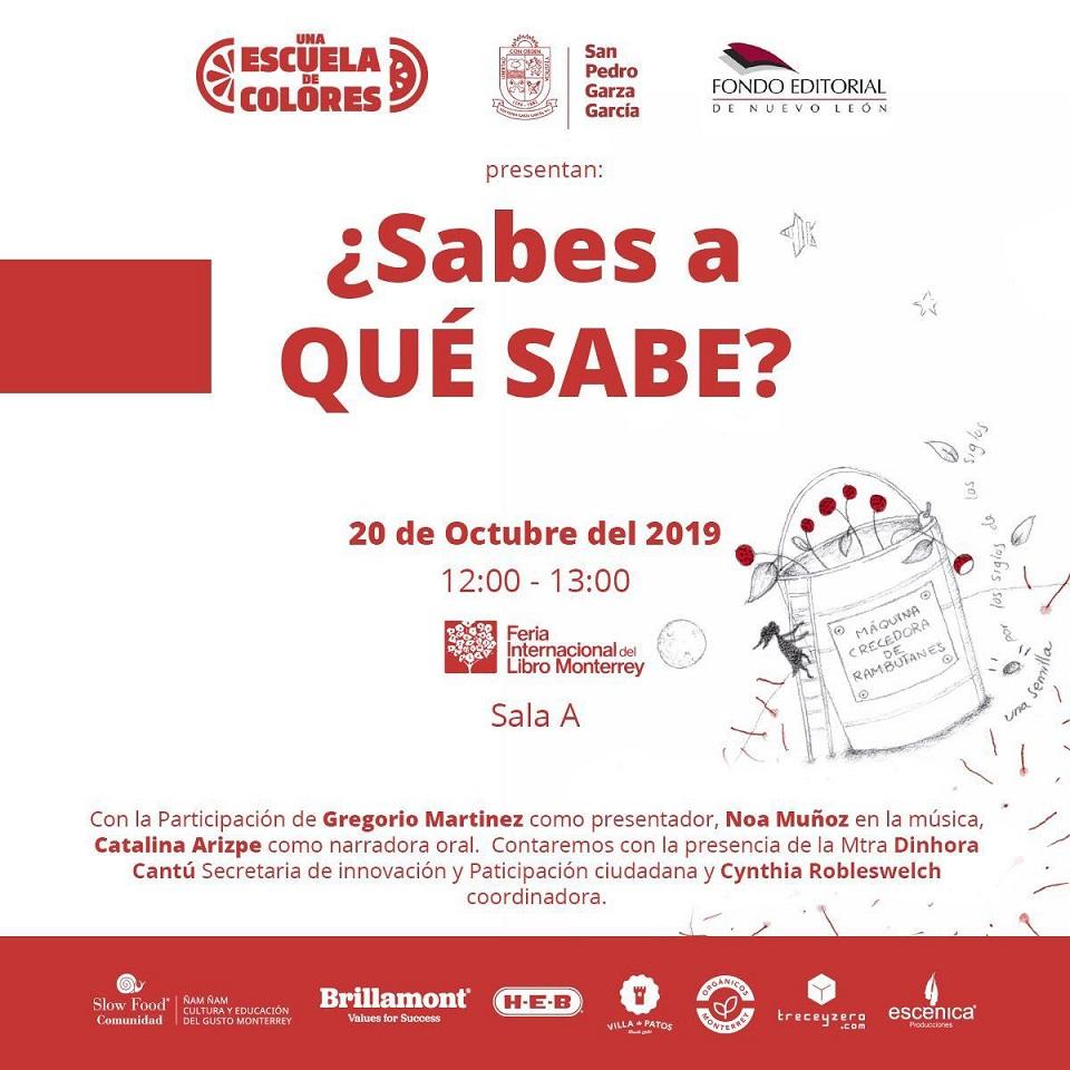 La Comunidad Slow Food Ñam ñam, cultura y educación del gusto Monterrey presenta libro en la Feria Internacional del Libro en Monterrey 2019.